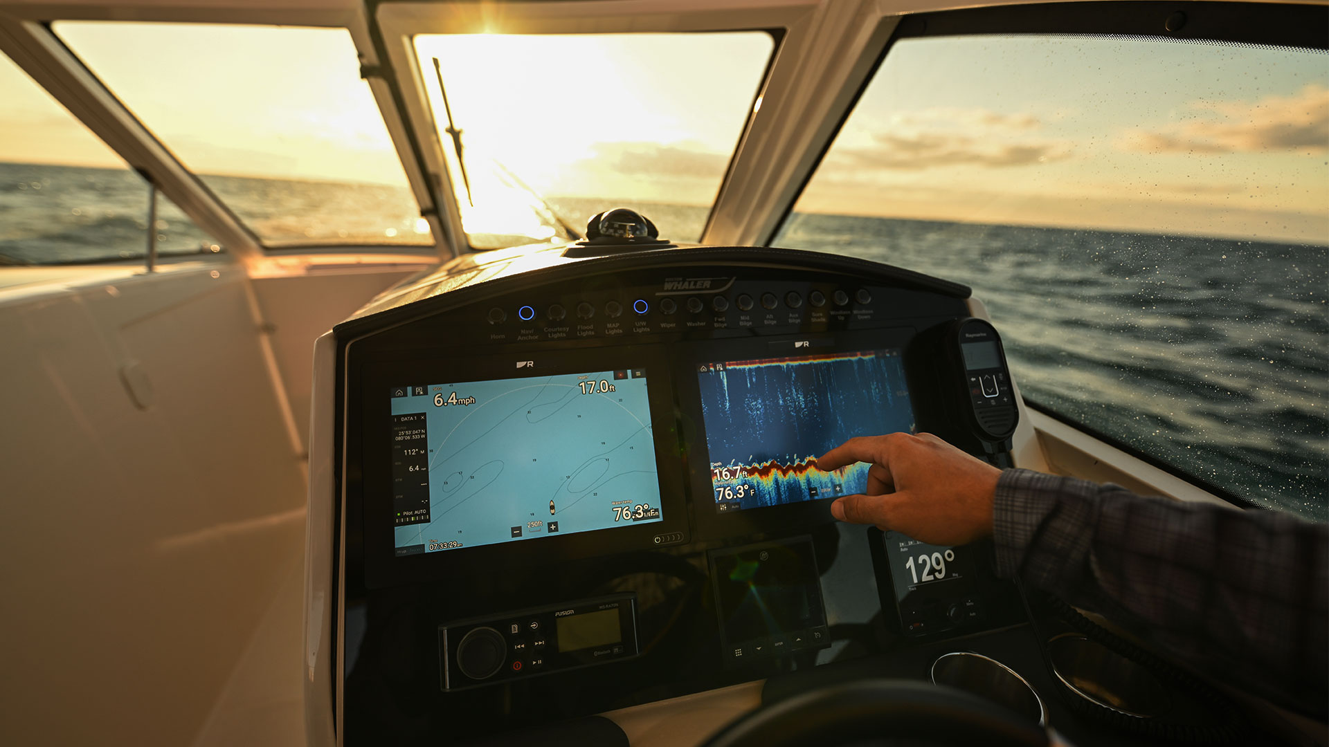 Axiom+ mit Sharper Displays | Marine Electronics by Raymarine
