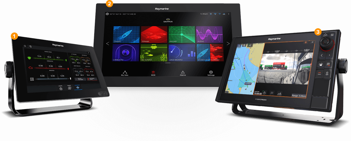 Marine Electronics for Sailing - Multifunction Displays | Raymarine - A Brand by FLIR