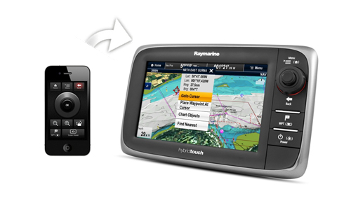 RayRemote auf iPhone | Raymarine