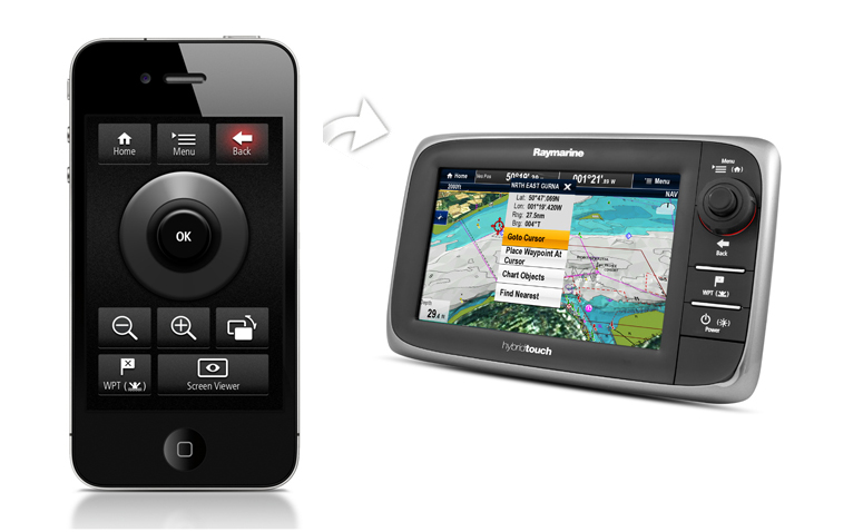 RayRemote - iPhone mit Display | Raymarine