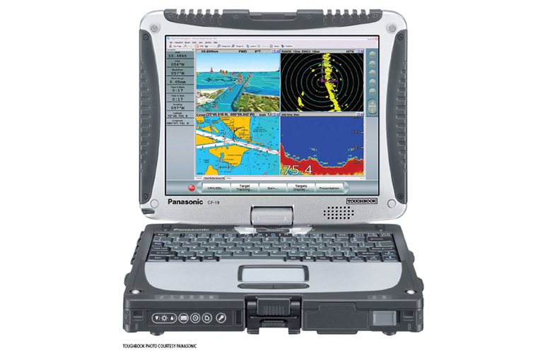 Raymarine RayTech Navigation Software auf Panasonic Toughbook