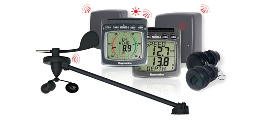 T104 Kabelloses  Log-, Lot-, Wind- und NMEA-System | Raymarine