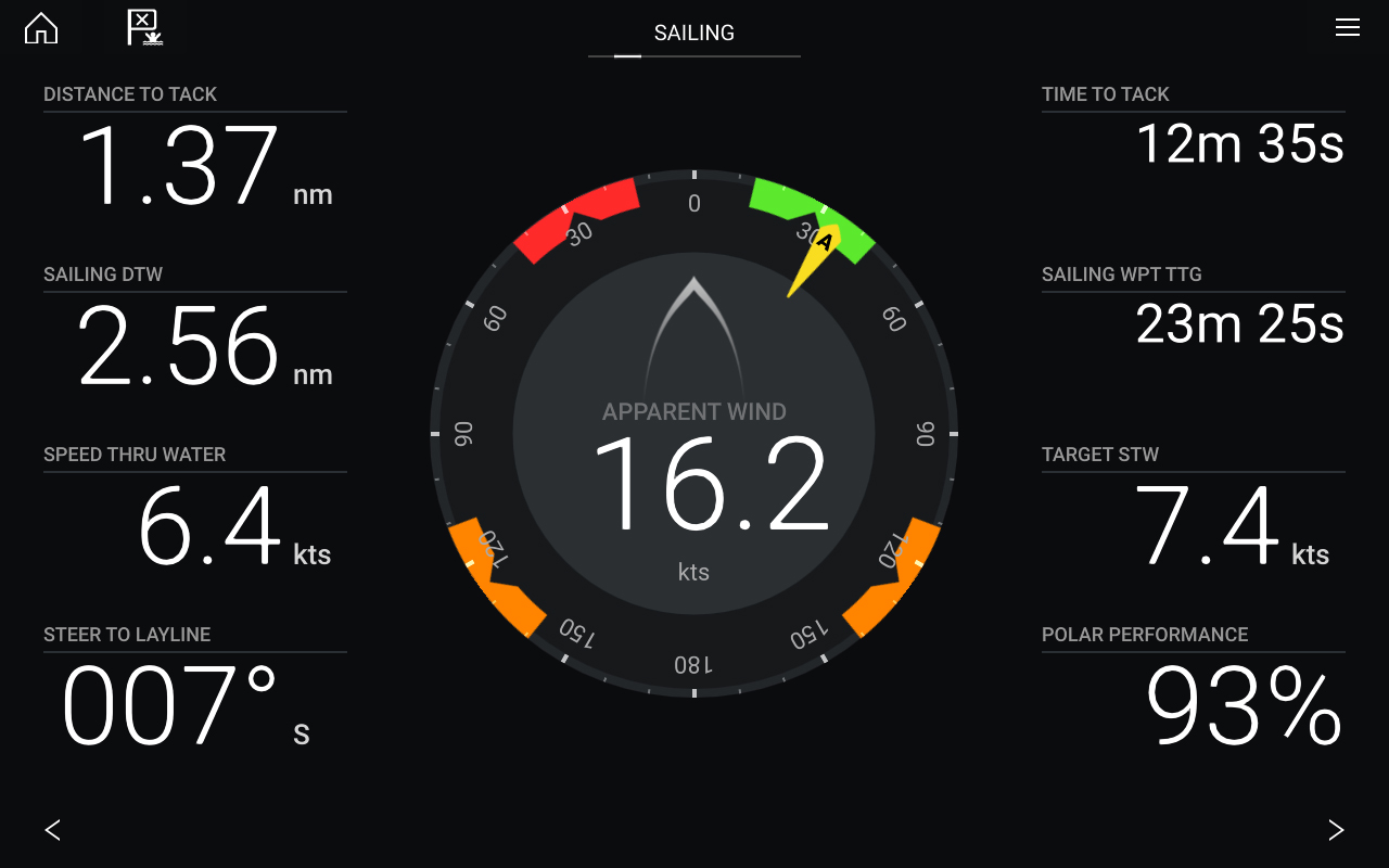 LightHouse 3.9 Software-Update – Dashboard-App und Segelskalen | Raymarine – Eine Marke von FLIR